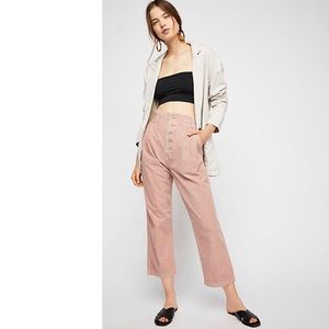 Free People dusty rose cropped pant